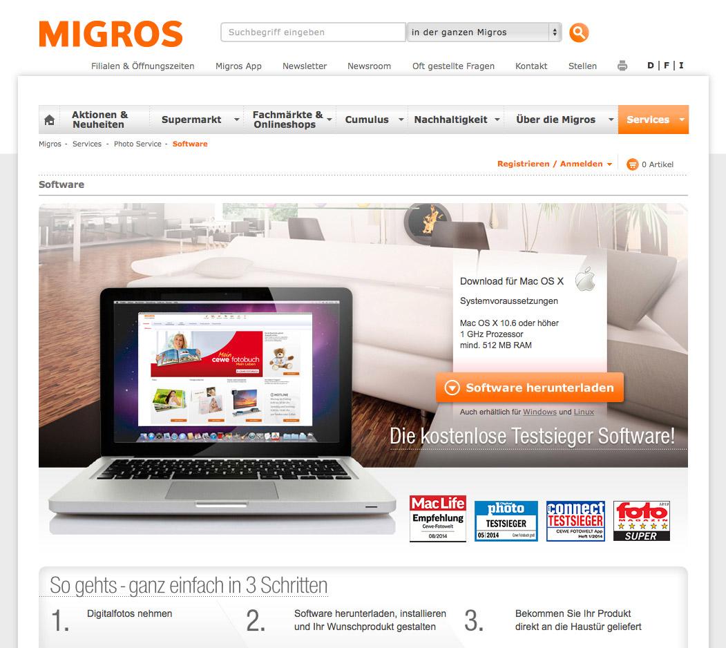 migros fotobuch die software im test fotografie und. Black Bedroom Furniture Sets. Home Design Ideas